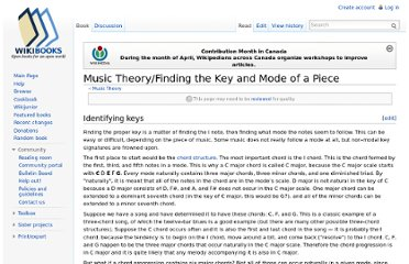http://en.wikibooks.org/wiki/Music_Theory/Finding_the_Key_and_Mode_of_a_Piece