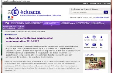http://eduscol.education.fr/cid50182/livret-competences-experimental.html