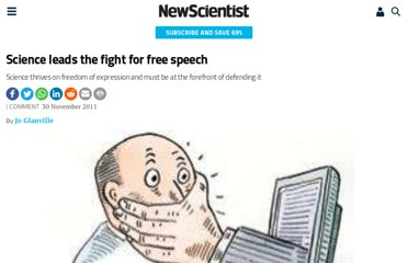 http://www.newscientist.com/article/mg21228415.900-science-leads-the-fight-for-free-speech.html