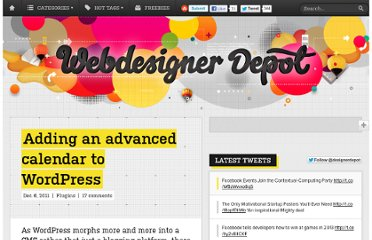 http://www.webdesignerdepot.com/2011/12/adding-an-advanced-calendar-to-wordpress/