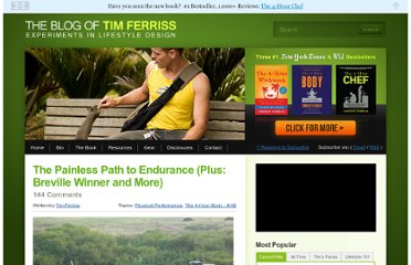 http://www.fourhourworkweek.com/blog/2011/12/06/the-painless-path-to-endurance-plus-breville-winner-and-more/