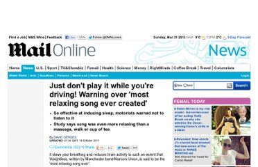 http://www.dailymail.co.uk/news/article-2049948/Most-relaxing-song-UK-band-Boffins.html