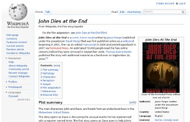 http://en.wikipedia.org/wiki/John_Dies_at_the_End
