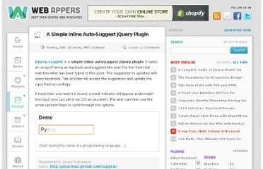 http://www.webappers.com/2011/12/07/a-simple-inline-auto-suggest-jquery-plugin/