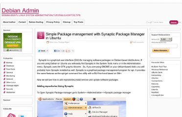 http://www.debianadmin.com/simple-package-management-with-synaptic-package-manager-in-ubuntu.html
