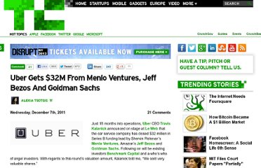 http://techcrunch.com/2011/12/07/uber-announces-32-million-in-funding/