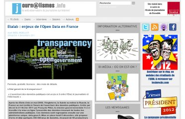 http://www.journalismes.info/Etalab-enjeux-de-l-Open-Data-en-France_a3691.html