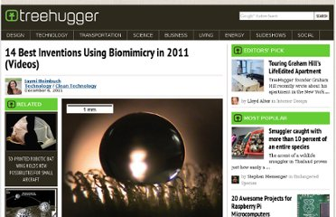 http://www.treehugger.com/clean-technology/14-best-inventions-using-biomimicry-2011.html