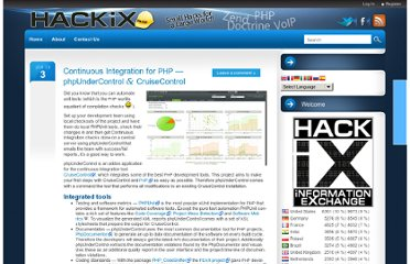 http://blog.hackix.com/2010/01/continuous-integration-for-php-phpundercontrol-cruisecontrol/