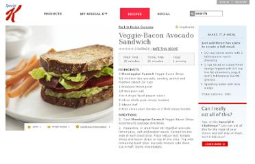 http://www.specialk.com/tips-and-tools/healthy-recipes/veggie-bacon-avocado-sandwich/#/vegetarian/1