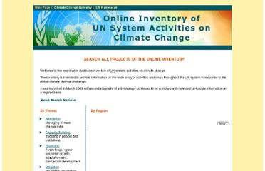 http://www.un.org/climatechange/projectsearch/index.asp