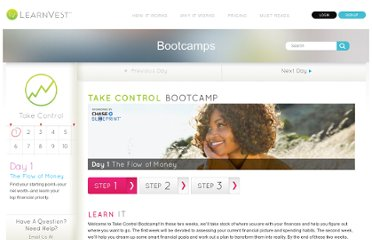 http://www.learnvest.com/bootcamps/take-control/day-1/