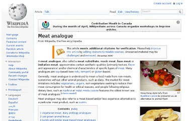 http://en.wikipedia.org/wiki/Meat_analogue