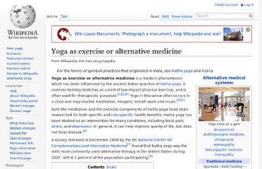 http://en.wikipedia.org/wiki/Yoga_as_exercise_or_alternative_medicine