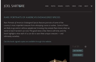 http://www.joelsartore.com/galleries/rare-portraits-of-americas-endangered-species/