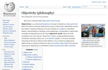 http://en.wikipedia.org/wiki/Objectivity_(philosophy)