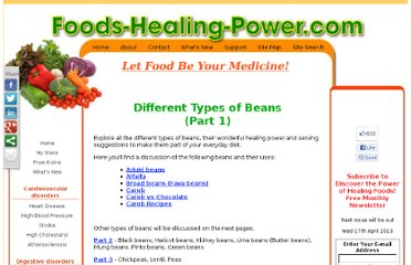 http://www.foods-healing-power.com/types-of-beans.html