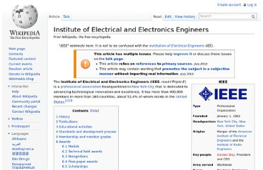 http://en.wikipedia.org/wiki/Institute_of_Electrical_and_Electronics_Engineers