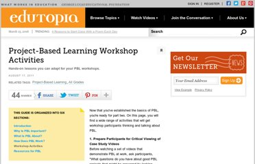 http://www.edutopia.org/project-based-learning-guide-activities