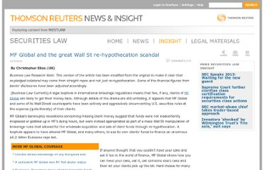 http://newsandinsight.thomsonreuters.com/Securities/Insight/2011/12_-_December/MF_Global_and_the_great_Wall_St_re-hypothecation_scandal/