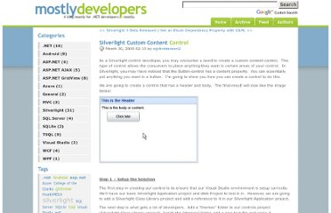 http://www.mostlydevelopers.com/blog/post/2009/03/30/Silverlight-Custom-Content-Control.aspx