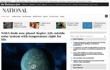 http://www.washingtonpost.com/national/nasa-finds-new-planet-kepler-22b-outside-solar-system-with-temperature-right-for-life/2011/12/07/gIQAPfzFdO_story.html
