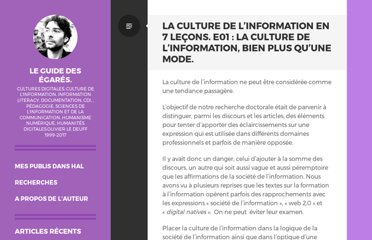 http://www.guidedesegares.info/2011/12/08/la-culture-de-linformation-en-7-lecon-e01-la-culture-de-l%e2%80%99information-bien-plus-quune-mode/