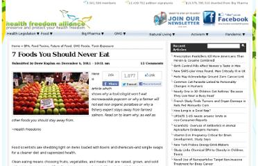 http://healthfreedoms.org/2011/12/06/7-foods-you-should-never-eat/