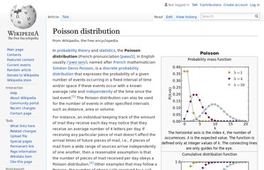 http://en.wikipedia.org/wiki/Poisson_distribution