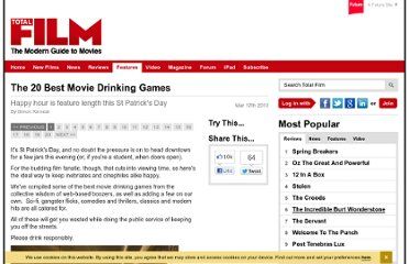 http://www.totalfilm.com/features/the-20-best-movie-drinking-games