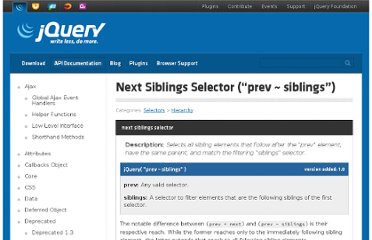 http://api.jquery.com/next-siblings-selector/