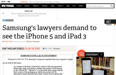 http://www.theverge.com/2011/05/28/samsung-apple-iphone-5-ipad-3/