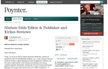 http://www.poynter.org/latest-news/mediawire/99821/nielsen-folds-editor-publisher-and-kirkus-reviews/