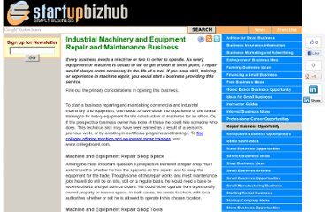 http://www.startupbizhub.com/industrial-machinery-and-equipment-repair-and-maintenance-business.htm