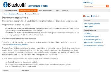 http://developer.bluetooth.org/DevelopmentResources/DevelopmentPlatforms/Pages/Development-Platforms.aspx