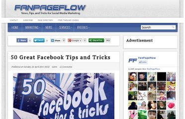 http://fanpageflow.com/50-tips-and-tricks/