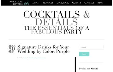 http://cocktailsdetails.com/2011/03/signature-drinks-for-your-wedding-by-color-purple/