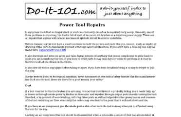 http://doit101.com/Repairs/powertoolrepair.html