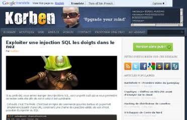 http://korben.info/utiliser-injection-sql-faille.html