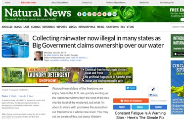 http://www.naturalnews.com/029286_rainwater_collection_water.html