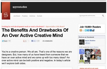 http://spyrestudios.com/benefits-and-drawbacks-of-an-over-active-creative-mind/
