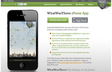 http://www.whatwasthere.com/iphone/default.aspx