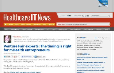 http://www.healthcareitnews.com/news/venture-fair-experts-timing-right-mhealth-entrepreneurs