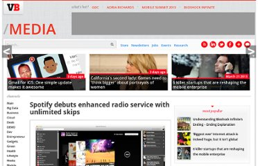 http://venturebeat.com/2011/12/09/spotify-debuts-enhanced-radio-service-with-unlimited-skips/