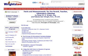 http://www.wrightslaw.com/advoc/articles/tests_measurements.html