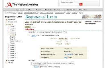 http://www.nationalarchives.gov.uk/latin/beginners/lesson05/default.htm