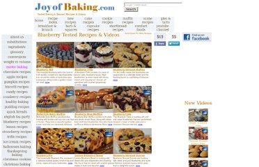 http://www.joyofbaking.com/BlueberryRecipes.html