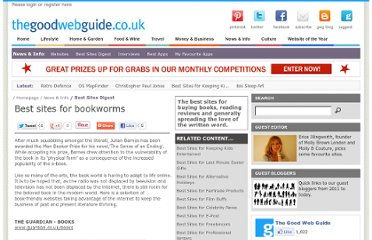 http://www.thegoodwebguide.co.uk/news-info/best-sites-digest/best-sites-for-bookworms/13840