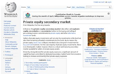 http://en.wikipedia.org/wiki/Private_equity_secondary_market