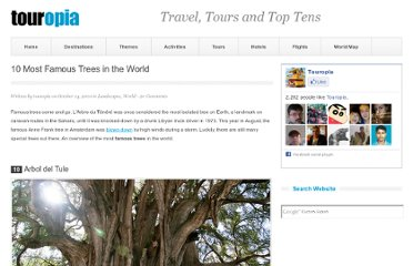 http://www.touropia.com/famous-trees-in-the-world/